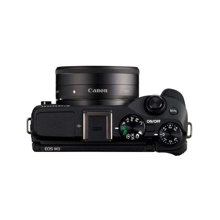 Hybride - Canon EOS M3  - Noir + Objectif EF-M 18-55/3.5-5.6 IS STM