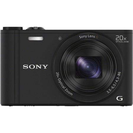 Compact Sony Cyber-shot DSC-WX350 - Zwart