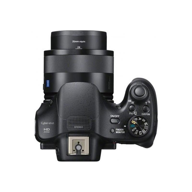 Kompakt Bridge Camera Sony Cyber-Shot DSC-HX400V Schwarz + Objektiv Carl Zeiss Vario-Sonnar T* 50x Optical Zoom Lens 4.3-215 mm f/2.8-6.3