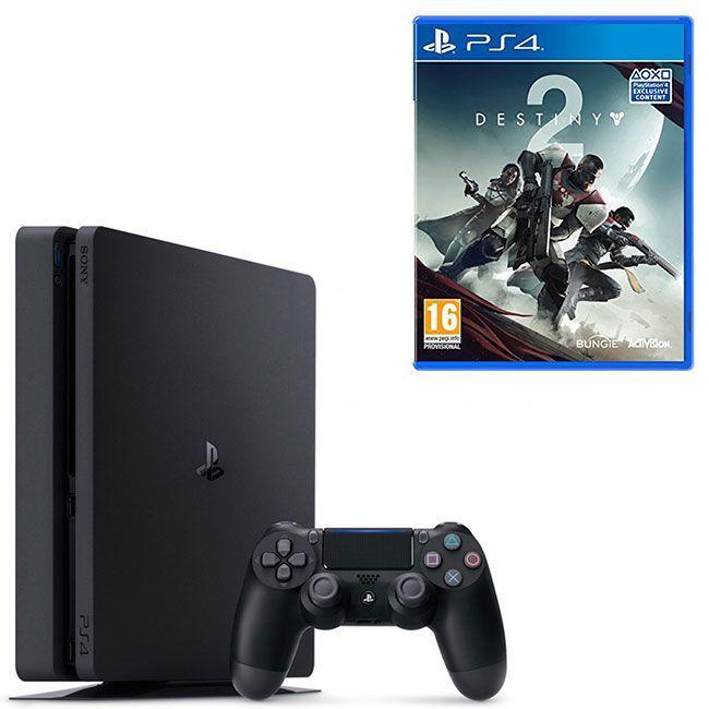 Console Sony PlayStation 4 Slim 1TB Destiny 2 Edition + Joystick - Zwart