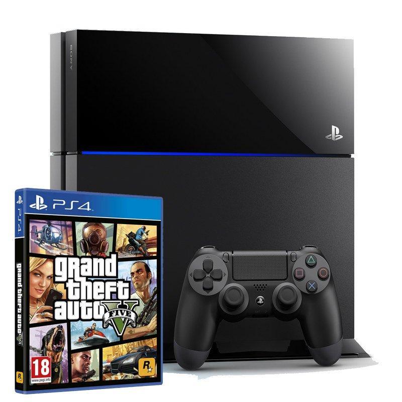 Console Playstation 4 Sony da 500 GB + 1 joystick + gioco GTA V - Nera