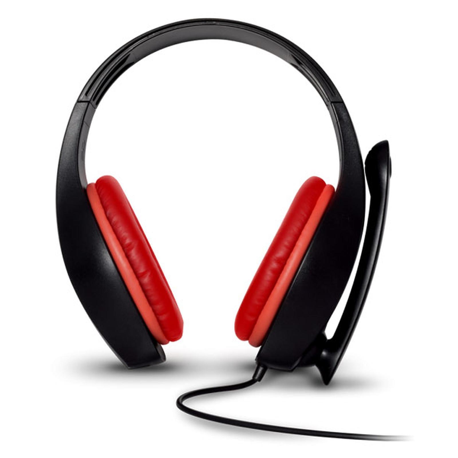 Casque réducteur de bruit gaming Filaire avec Micro Spirit Of Gamer Pro-NH5 - Noir/Rouge