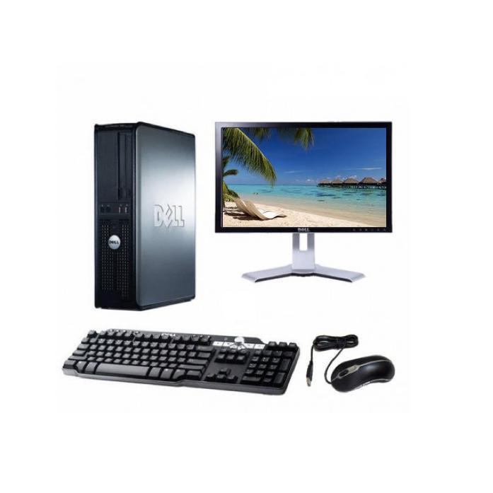 "Dell OptiPlex 755 DT 17"" Pentium 2,2 GHz - HDD 40 Go - 2 Go"