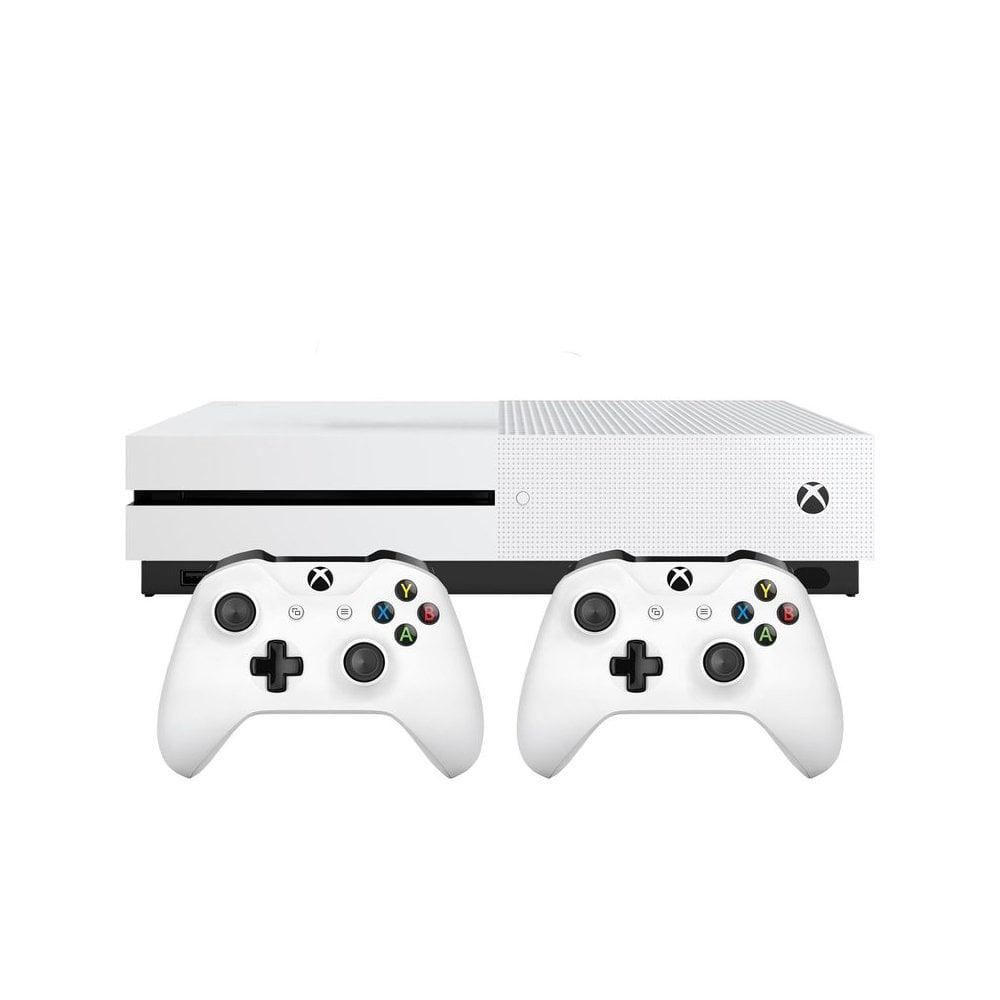 Console Microsoft Xbox One S 1 To + 2 Manettes - Blanc