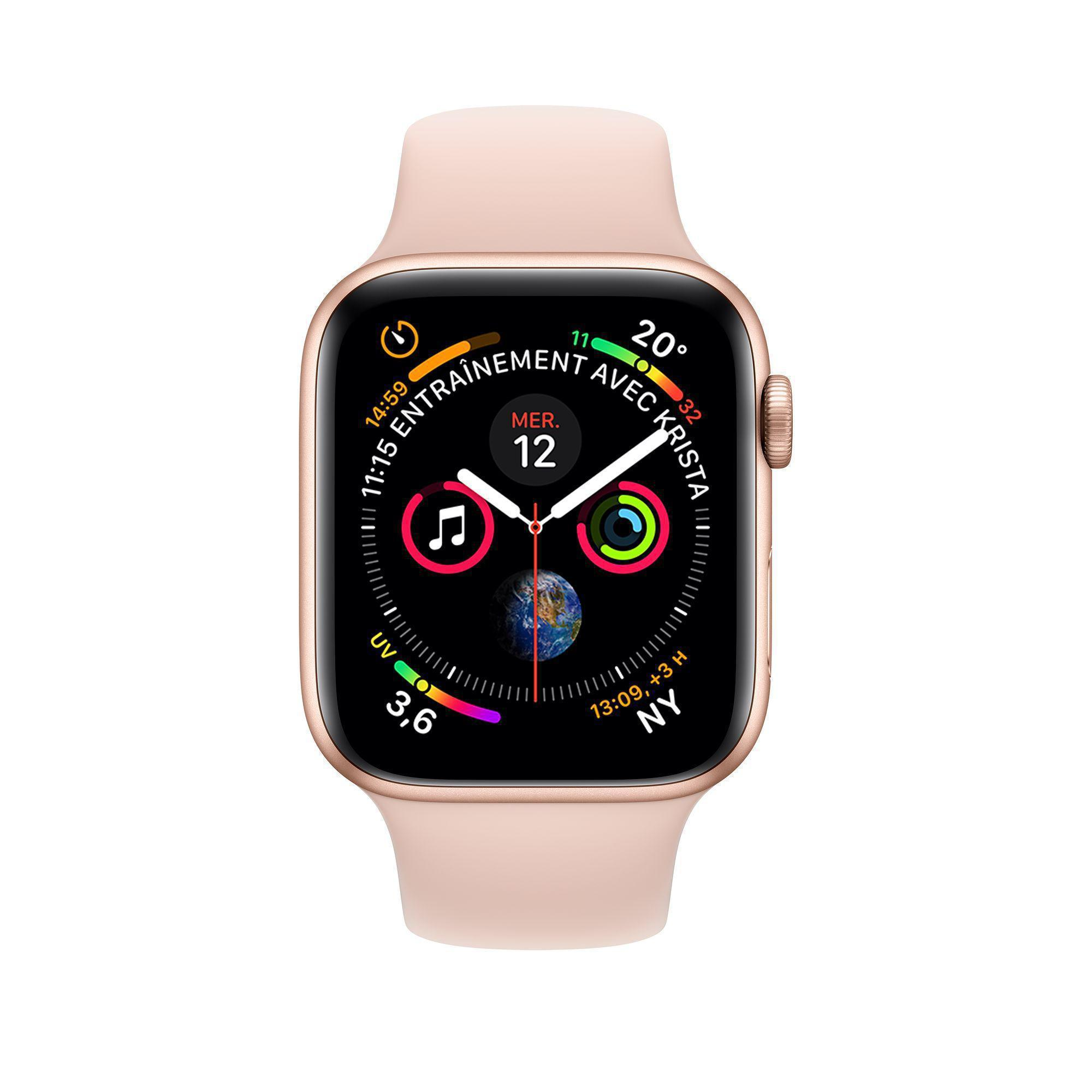 Apple Watch (Series 4) September 2018 40 - Aluminium Gold - Sport loop Pink