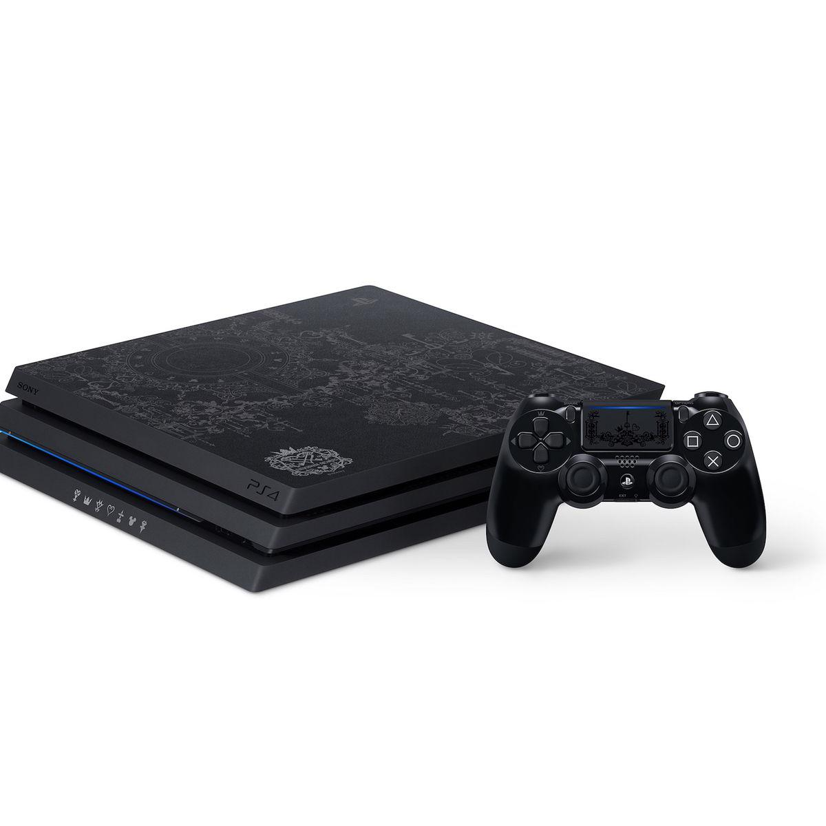 Console Sony PlayStation 4 Pro Edition spécial kingdom hearts III 1To + 1 manette - Noir