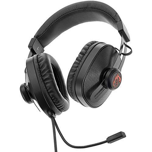 MSI Gaming S Box Headset Noise Cancelling Gaming Hörlurar med microphone - Svart/Röd