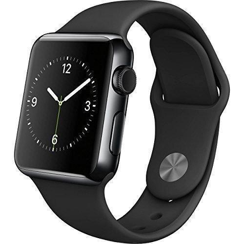 Apple Watch (Series 1) Décembre 2016 38 mm - Acier inoxydable Gris sidéral - Bracelet Sport Noir