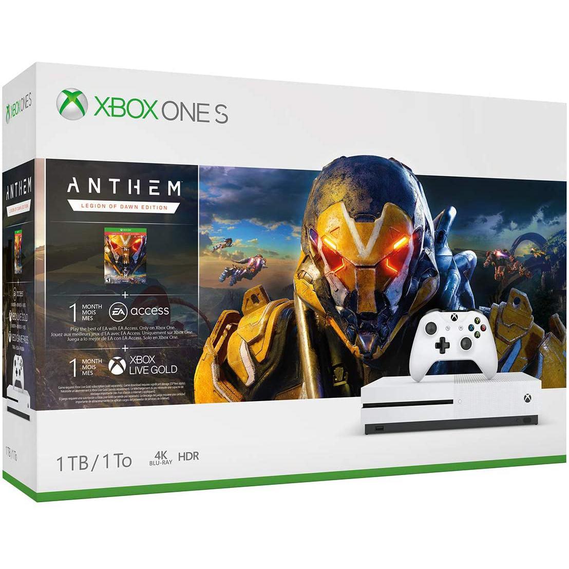 Console Microsoft Xbox One S 1 To + manette + Jeu Anthem Legion of Dawn