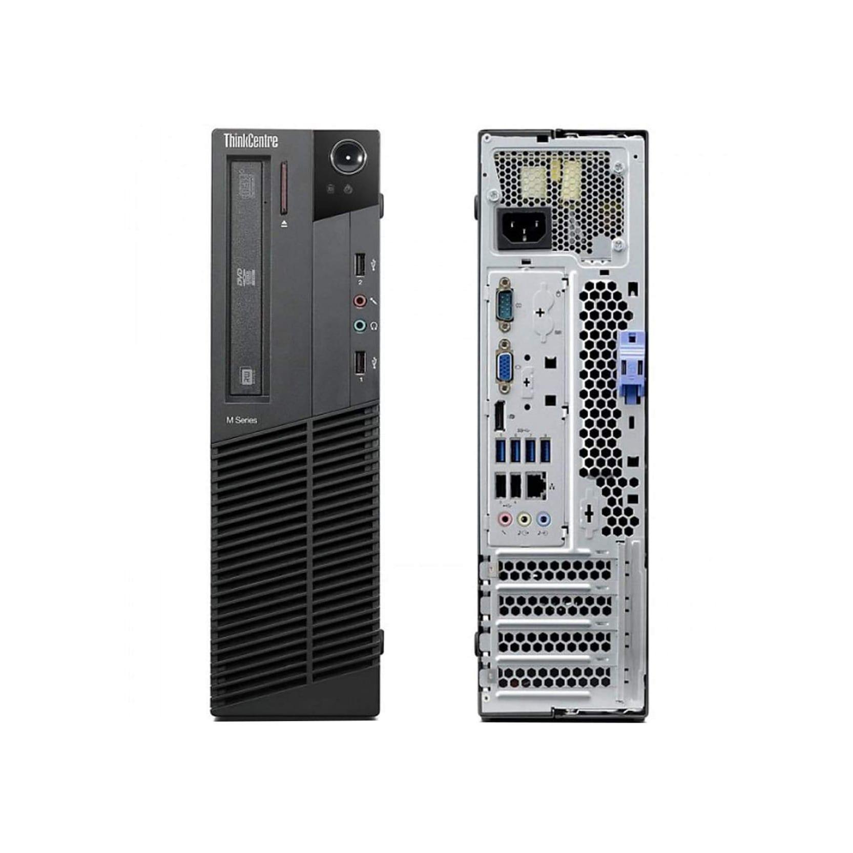 """Lenovo ThinkCentre M92P SFF 22"""" Core i5 3,1 GHz - SSD 240 Go - 8 Go AZERTY"""
