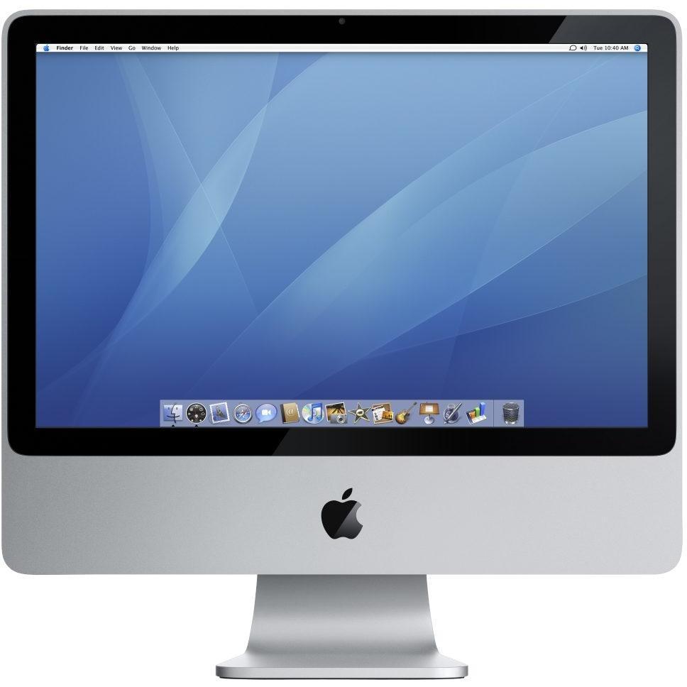 """iMac 20"""" (Začiatok roka 2008) Core 2 Duo 2,66GHz - HDD 320 GB - 4GB AZERTY - Francúzska"""