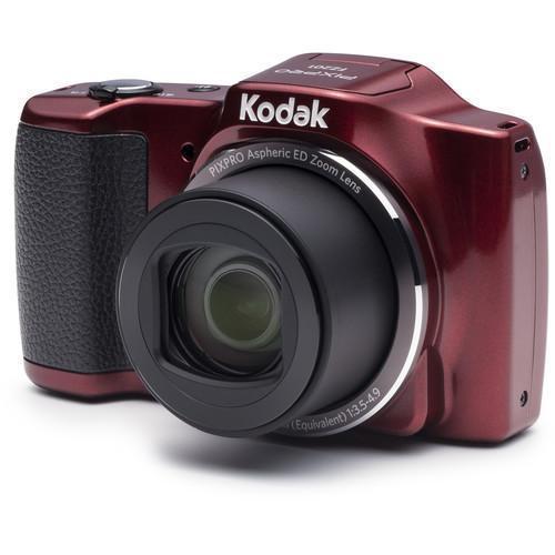 Kompakt - Kodak FZ201 - Rot + Objektiv Kodak 4,5 - 90 mm