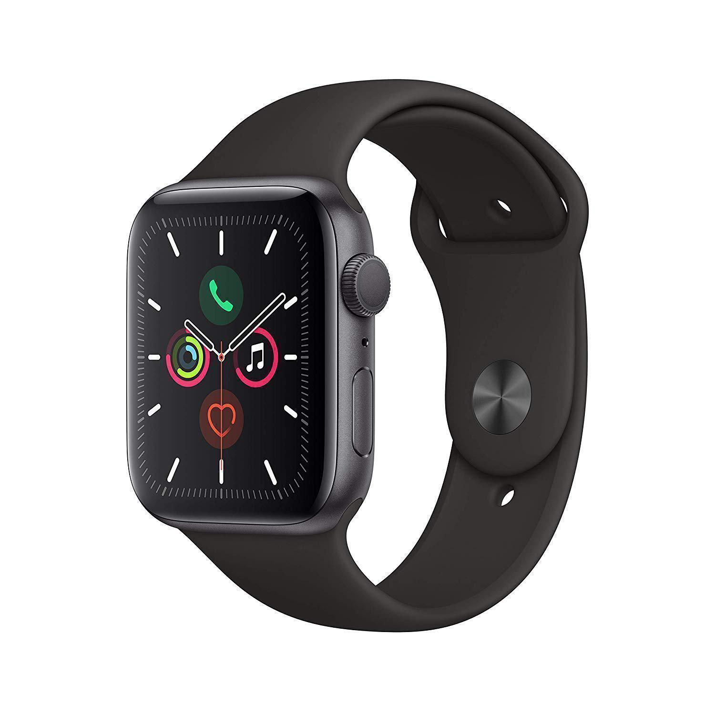 Apple Watch (Series 5) September 2019 44 - Aluminium Grå utrymme - Sport-loop Svart