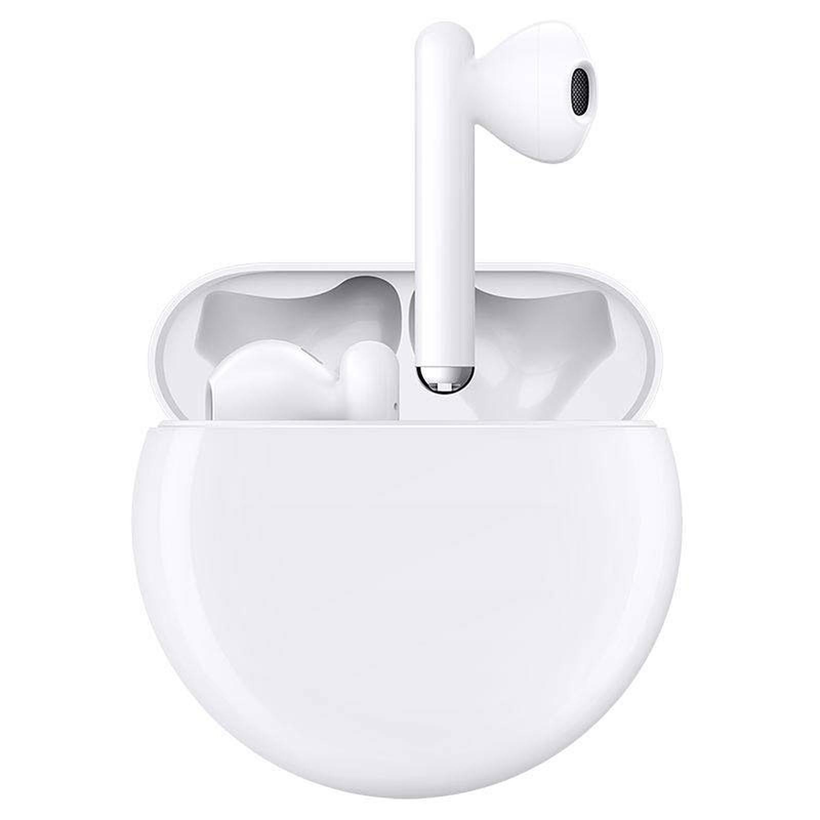 Huawei Freebuds 3 Earbud Noise-Cancelling Bluetooth Earphones - Pearl white