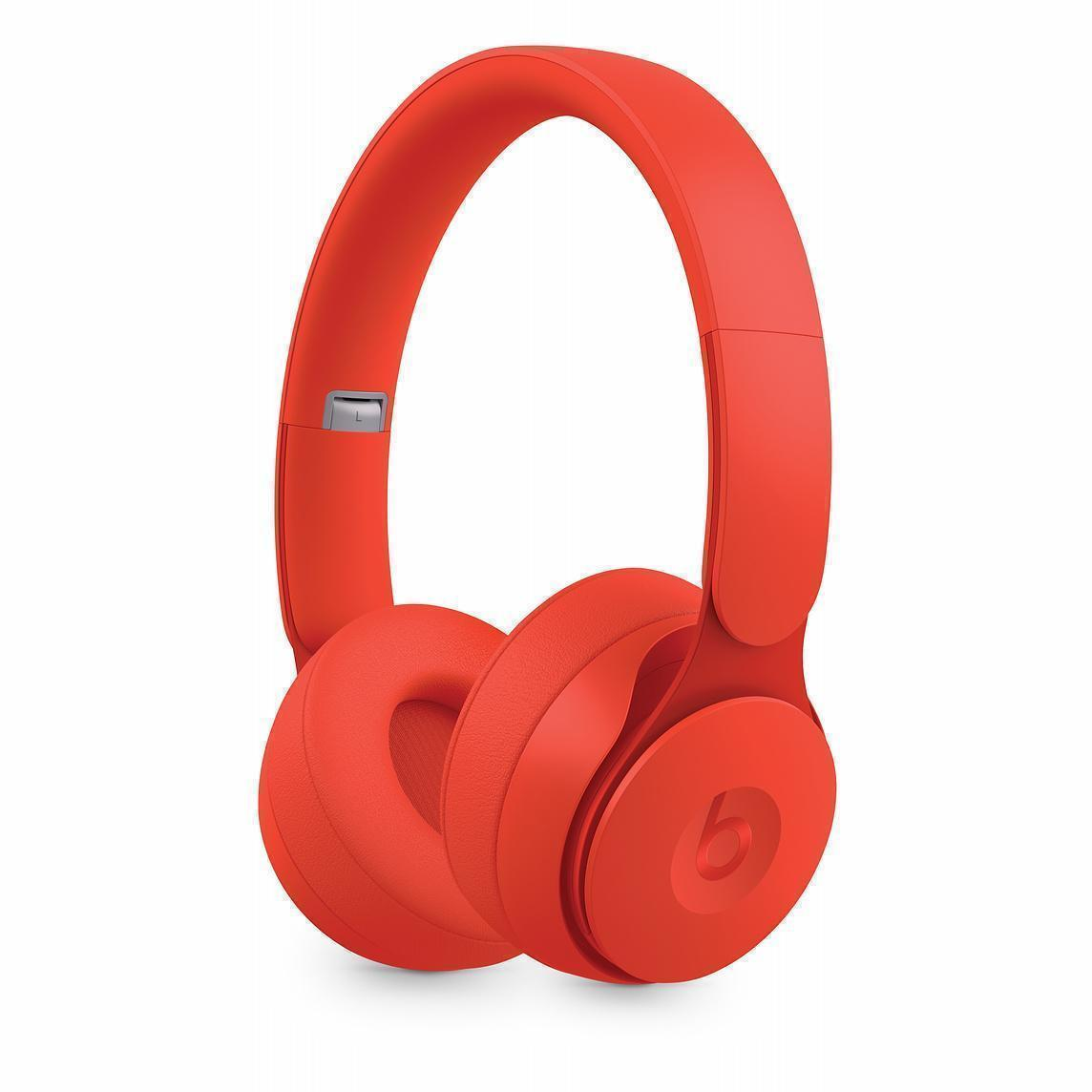 Beats By Dr. Dre Solo Pro Noise-Cancelling Bluetooth Headphones with microphone - Red