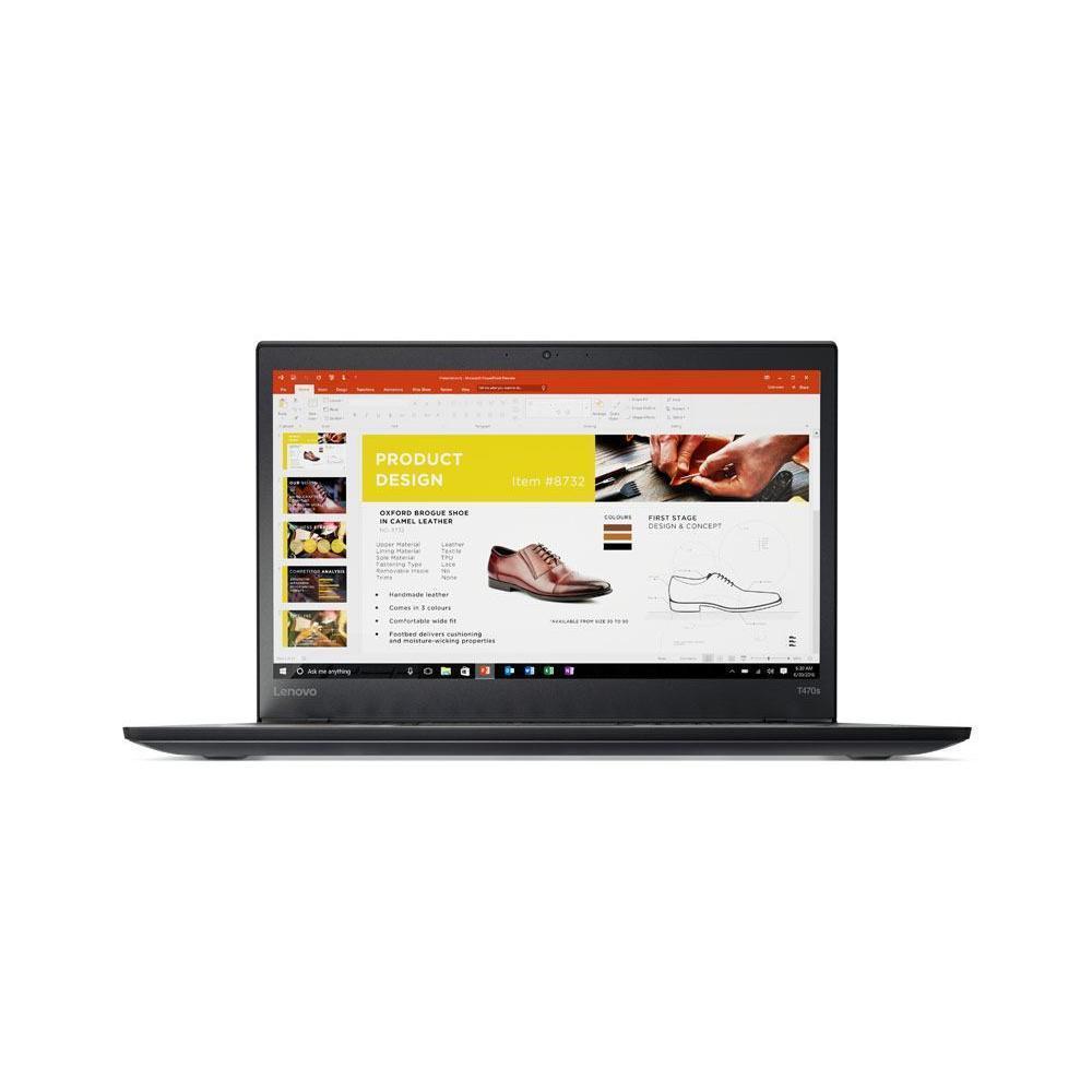 "Lenovo ThinkPad T470S 14"" Core i5 2,4 GHz  - SSD 240 Go - 8 Go QWERTY - Espagnol"