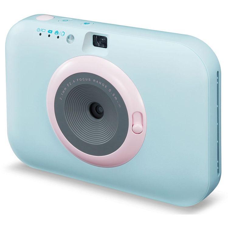 Sofortbildkamera LG PC389S Pocket Snap Bluetooth Blau + Objektiv LG Focus Range 2-1 mm f/2.4