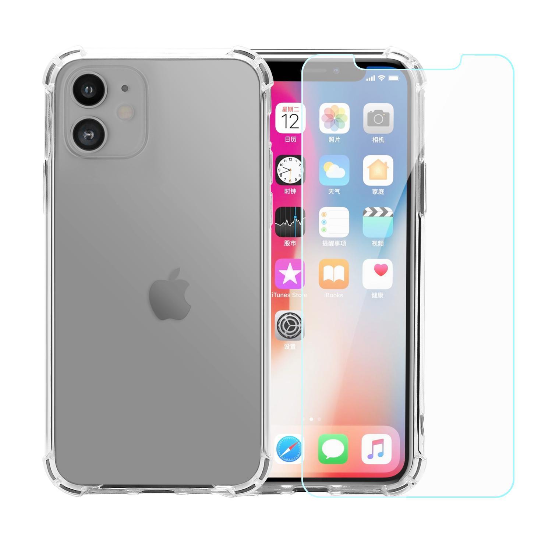 Pack Coque iPhone 11 transparente anti-chute en TPU & polycarbonate Verres Trempés