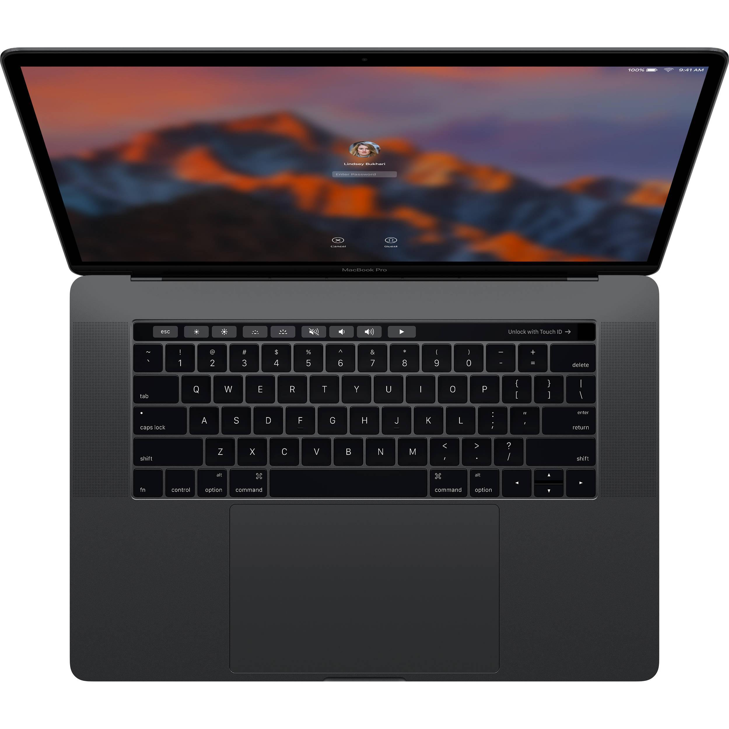 """MacBook Pro Touch Bar 15"""" Retina (2017) - Core i7 2,8 GHz - SSD 512 Go - 16 Go QWERTY - Italien"""