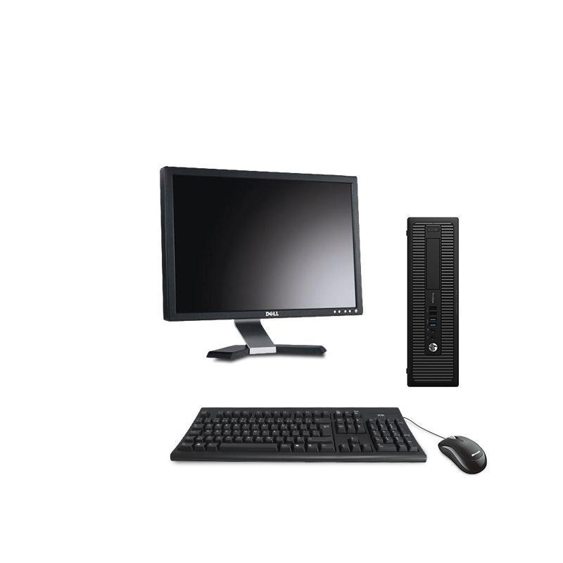 "Hp EliteDesk 800 G1 SFF 20"" Pentium 3,2 GHz - HDD 250 Go - 4 Go AZERTY"