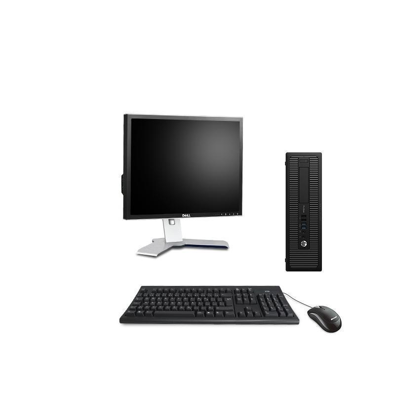 "Hp EliteDesk 800 G1 SFF 19"" Pentium 3,2 GHz - SSD 240 Go - 4 Go AZERTY"