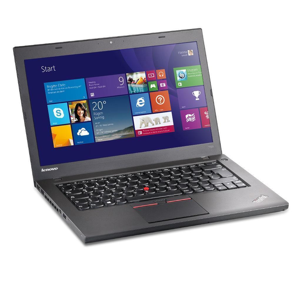 "Lenovo ThinkPad T450 14"" Core i5 2,3 GHz - SSD 180 GB - 8GB QWERTZ - Duits"