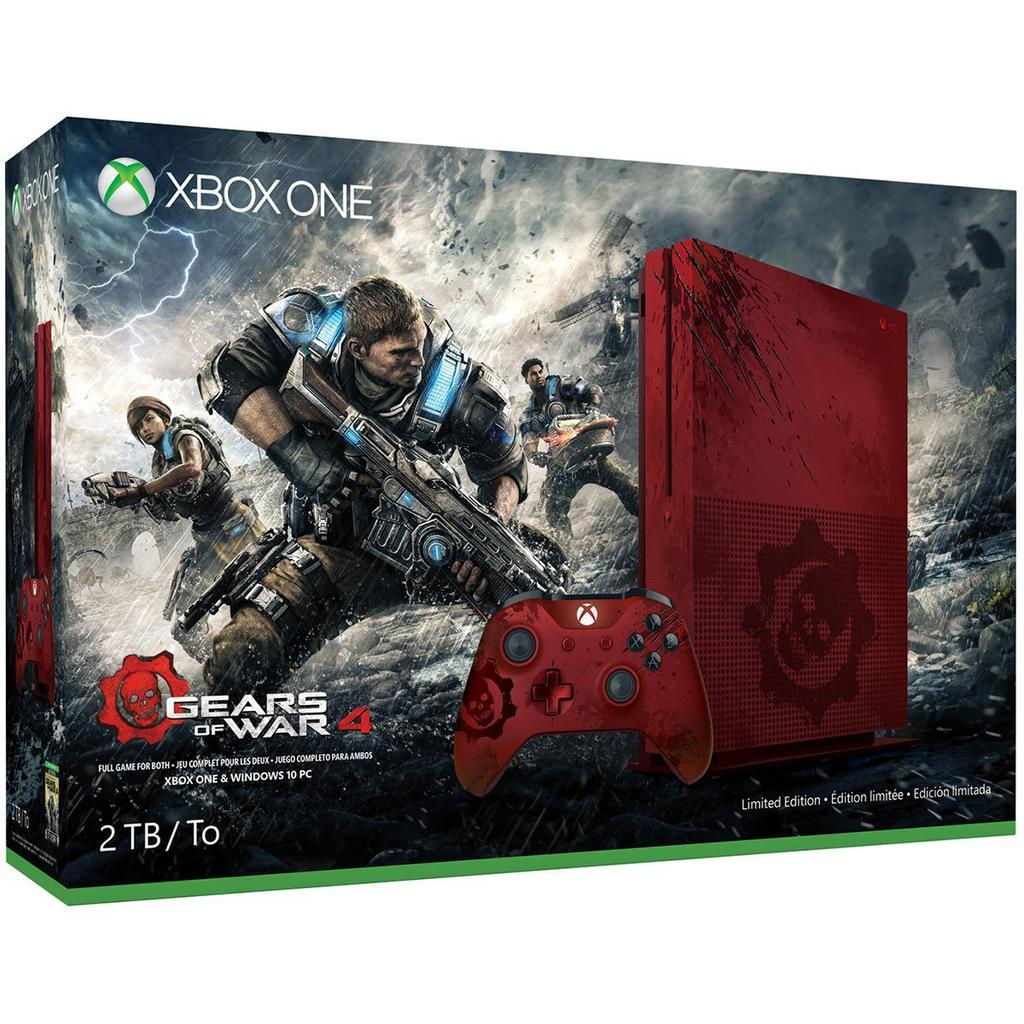 Console Microsoft Xbox One S Gears of War 1 To + 1 Manette - Edition Spéciale