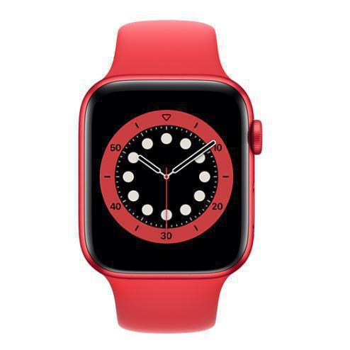Apple Watch (Series 6) September 2020 44 mm - Aluminium Rot - Armband Sportarmband Rot
