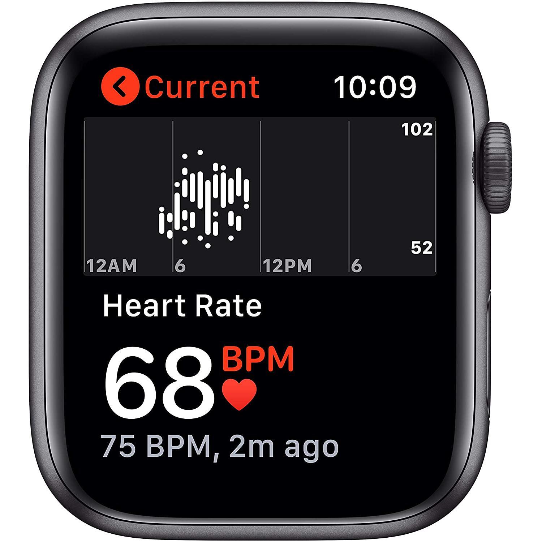 Apple Watch (Series SE) Septembre 2020 40 mm - Aluminium Gris sidéral - Bracelet Sport Noir