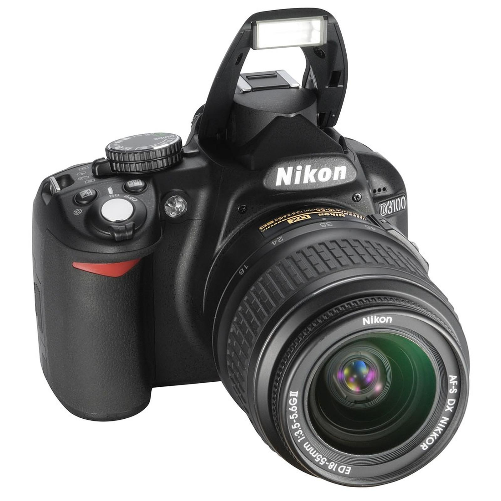 Reflex Nikon D3100 - Noir + Objectif Nikon AF-S DX Nikkor 18-55mm f/3.5-5.6G II ED
