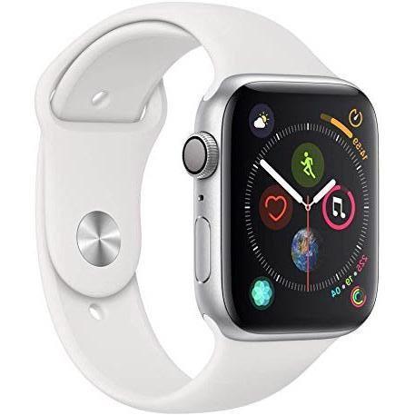Apple Watch (Series 4) Septembre 2018 44 mm - Aluminium Argent - Bracelet Sport Blanc