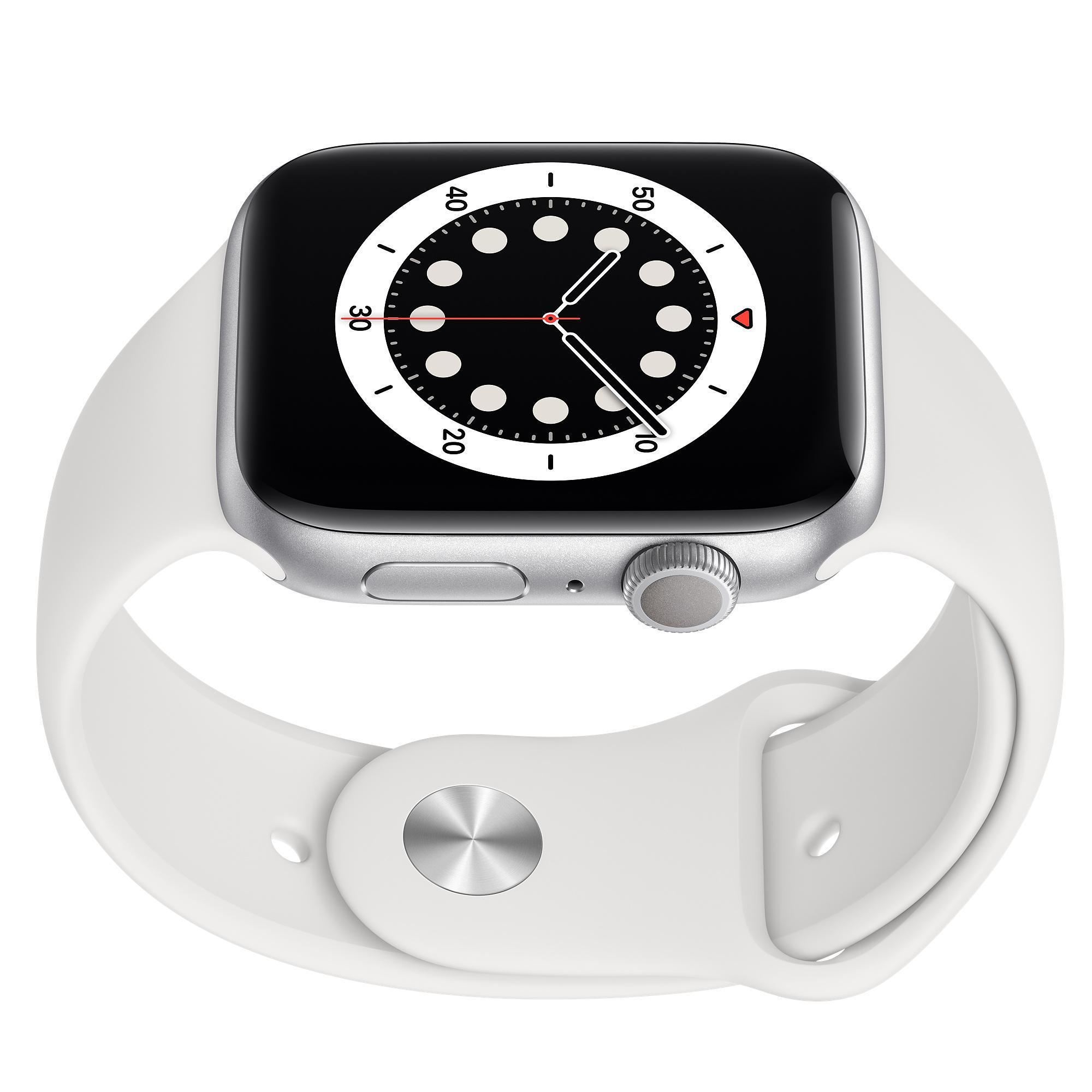 Apple Watch (Series 6) September 2020 44 - Aluminium Silver - Sport-loop Vit