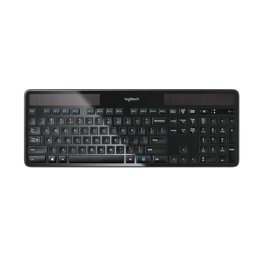 Logitech Tastatur QWERTZ Schweizerisch Wireless Solar K750