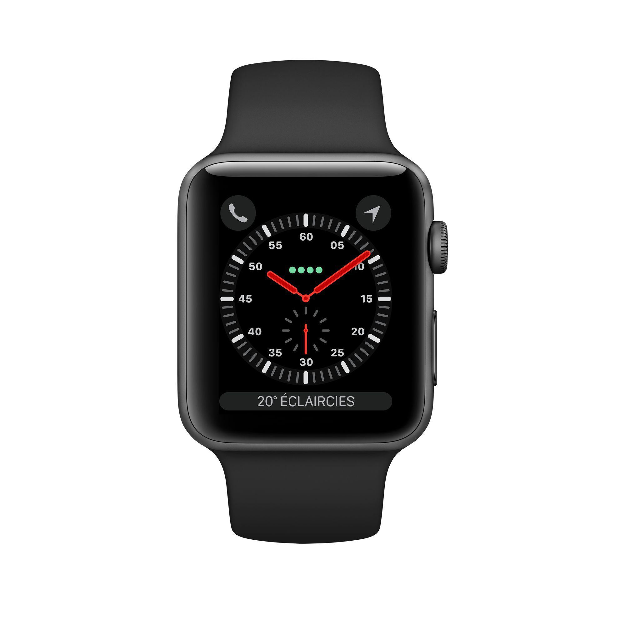 Apple Watch (Series 3) GPS 42 mm - Alluminio Grigio Siderale - Cinturino Sport Nero