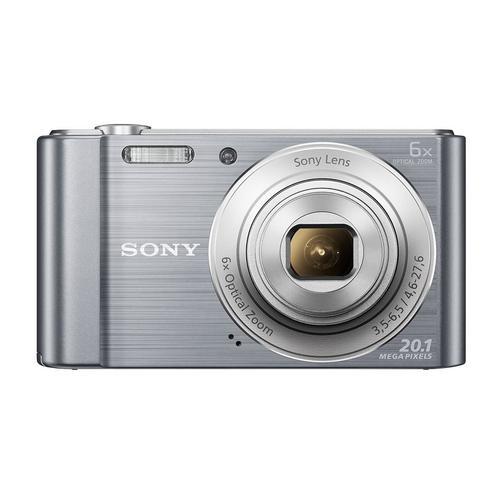 Compactcamera Sony Cyber-shot DSC-W810 - Zilver + Lens Sony 6X Optical Zoom Lens