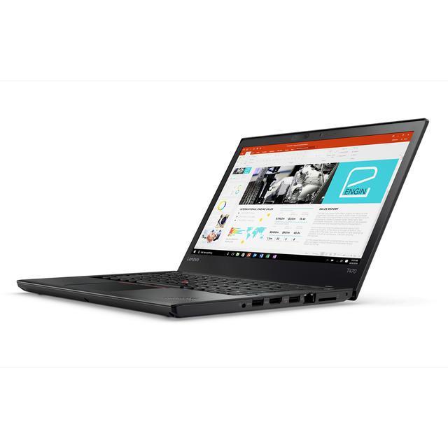 "Lenovo ThinkPad T470 14"" Core i5 2,4 GHz - SSD 256 GB - 8GB Tastiera Tedesco"