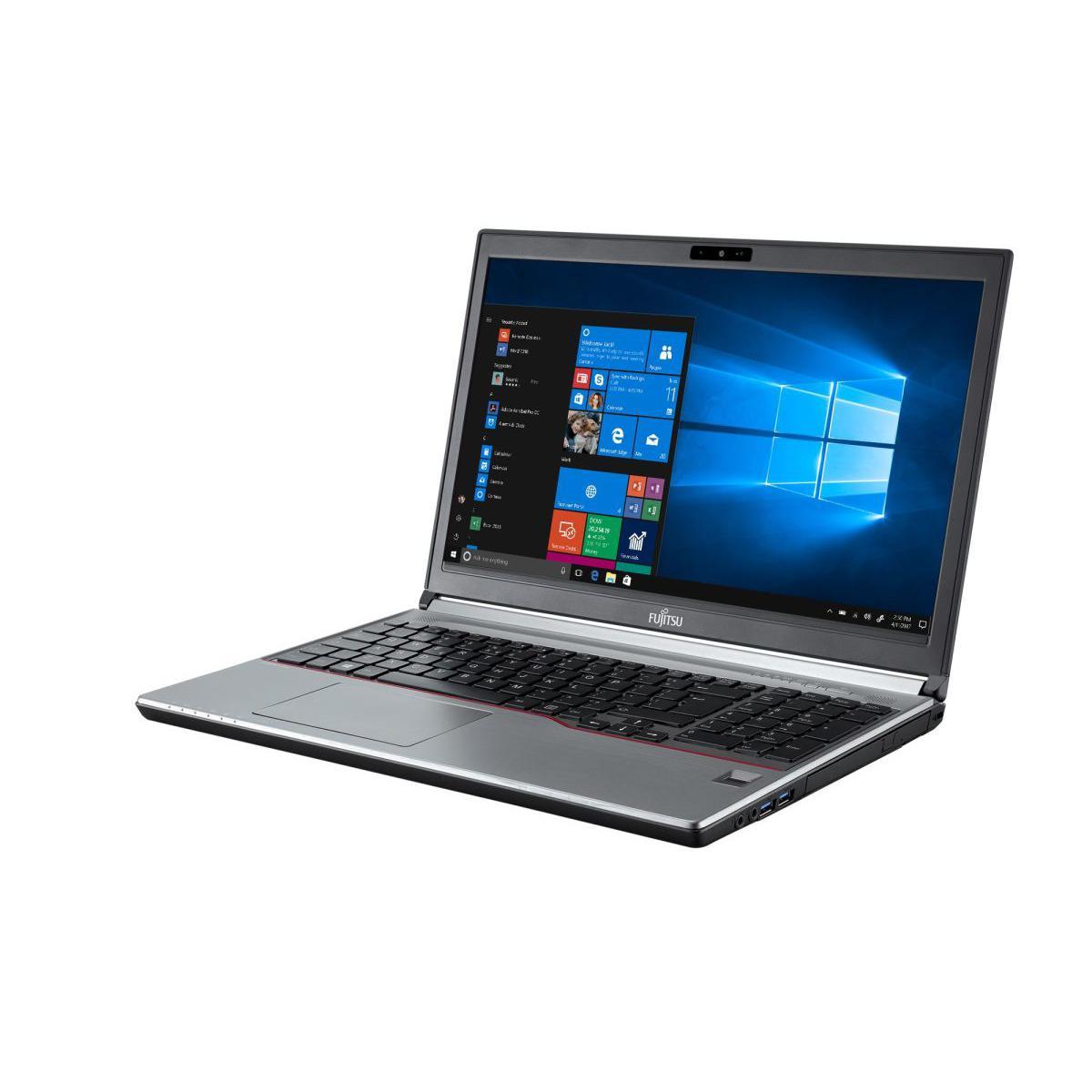 """Fujitsu LifeBook E756 15"""" Core i7 2,6 GHz - SSD 256 Go - 8 Go QWERTZ - Allemand"""