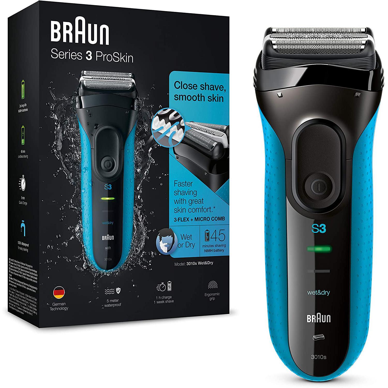 Rasoir électrique Barbe Braun Series 3 ProSkin 3010S GS