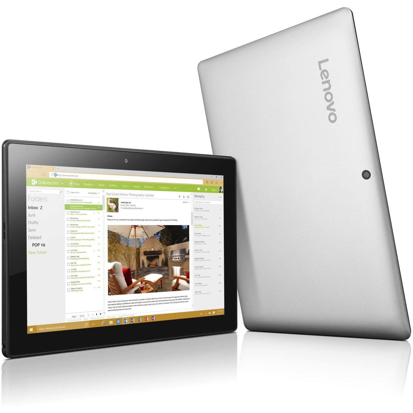 "Lenovo Miix 310-10ICR 10"" Atom X5 1,44 GHz - SSD 64 Go - 4 Go"