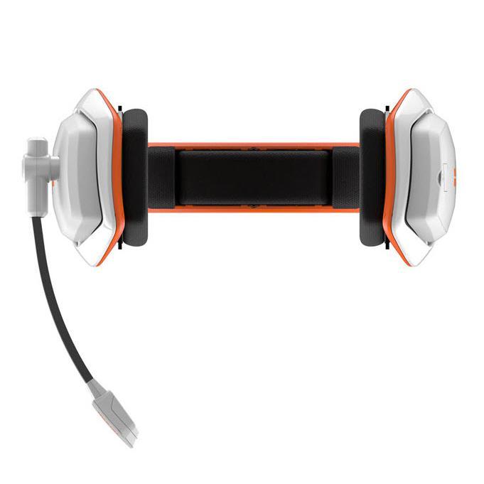 Slúchadlá Tritton Katana HD 7.1 Gaming Mikrofón - Biela/Oranžová