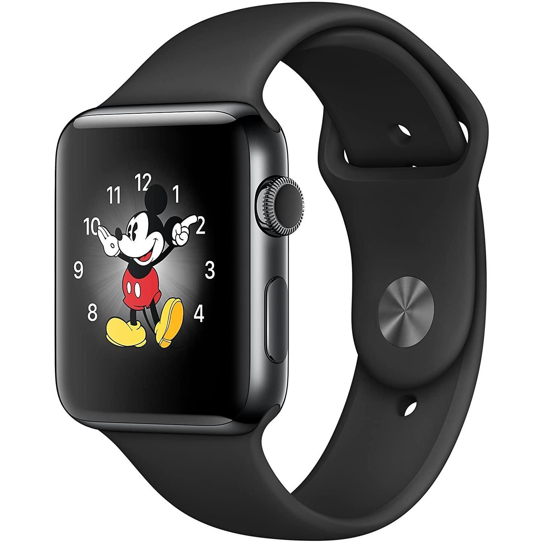 Apple Watch (Series 2) 2016 42 - Alumínio Cinzento sideral - Circuito desportivo Preto