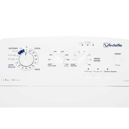 Lave-linge classique 40 cm top Vedette VLT5100W