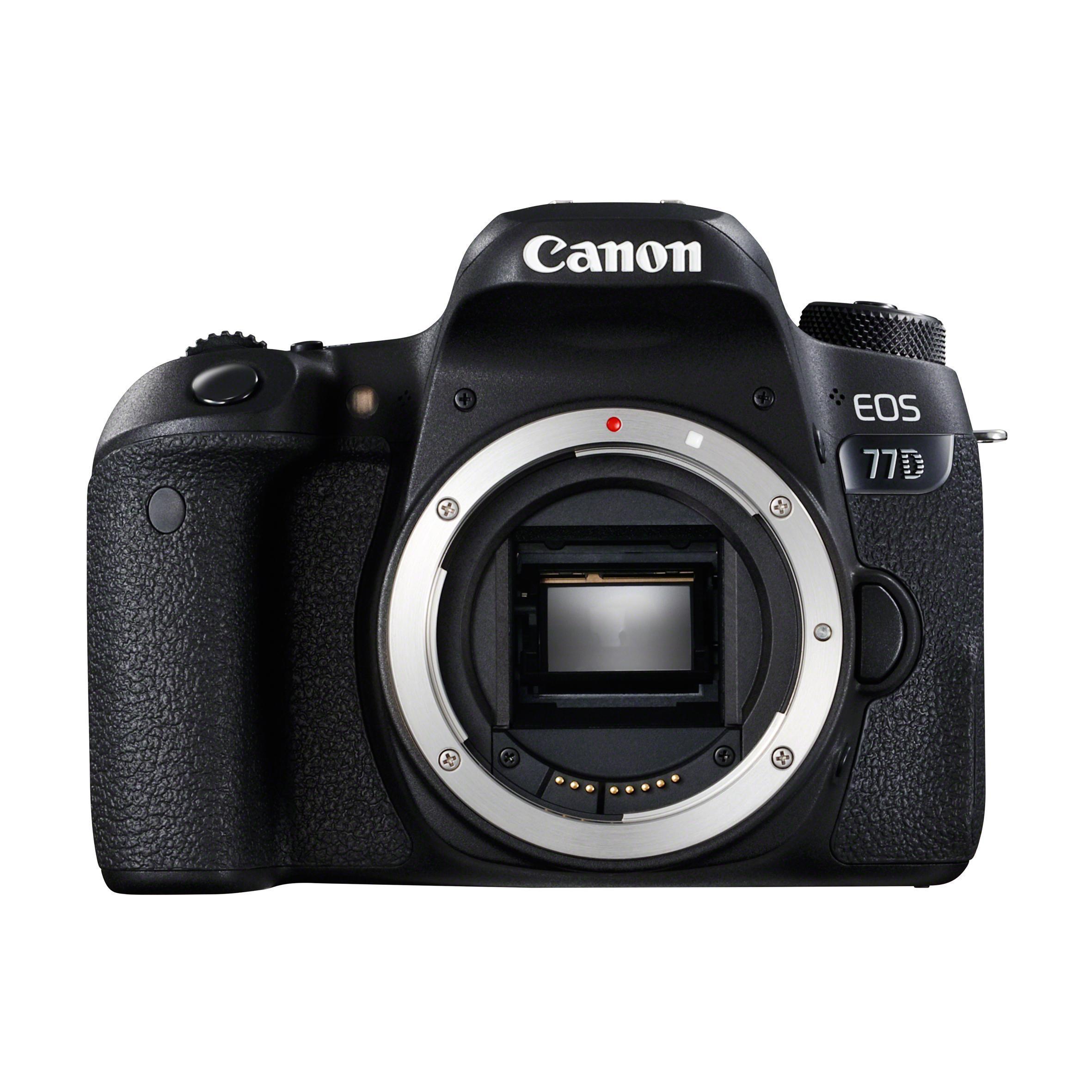 Reflex Canon EOS 77D Alleen Body - Zwart