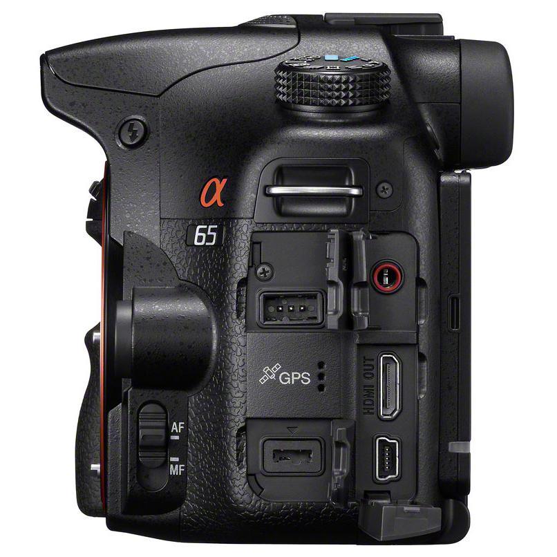 Reflex Sony SLT-A65 - Musta + Objektiivi Sony 18-55mm f/3.5-5.6 SAM