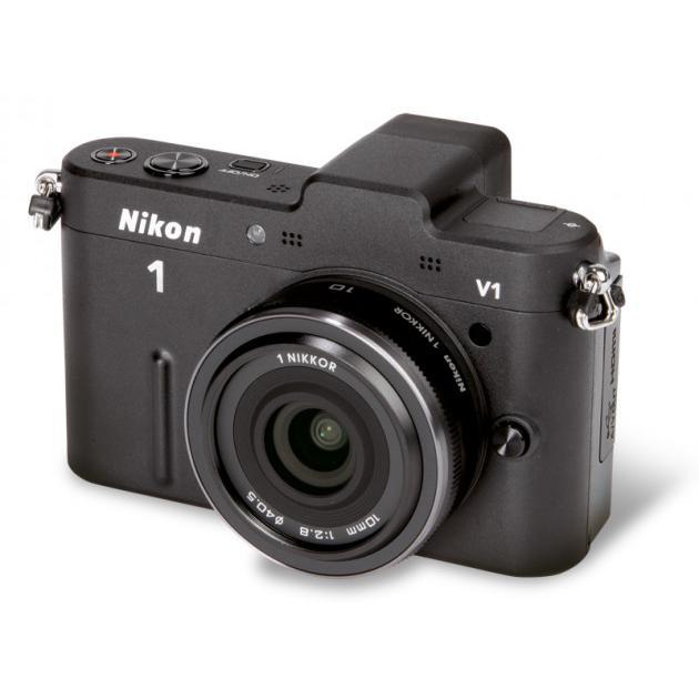 Hybrid Nikon 1 V1 - Musta + Objektiivi Nikon 10-30mm f/3.5-5.6 VR