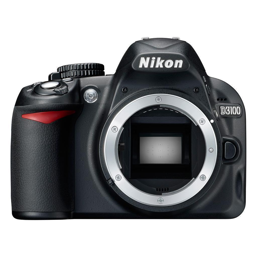 Yksisilmäinen peiliheijastuskamera Nikon D3100 vain vartalo - Musta