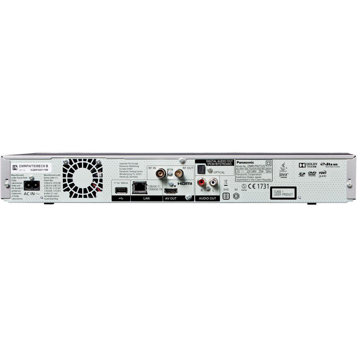 Panasonic DMR-PWT535 Leitor De Blu-Ray
