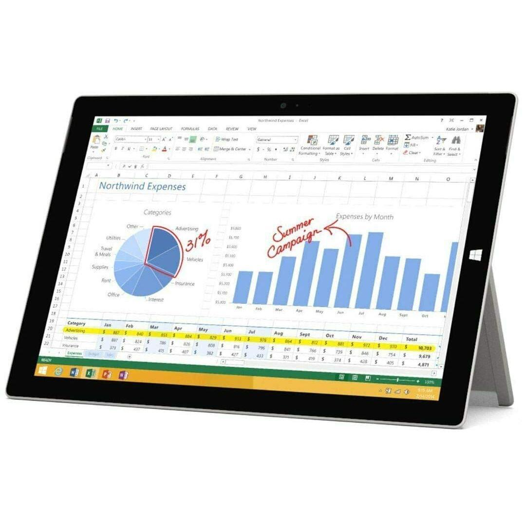 """Microsoft Surface Pro 3 12"""" Core i5 1,9 GHz - HDD 128 Go - 4 Go"""