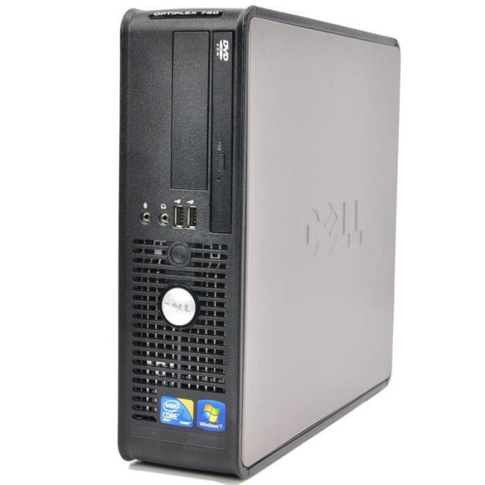"""Dell Optiplex 780 SFF 17"""" Pentium 2,93 GHz - SSD 240 Go - 8 Go"""