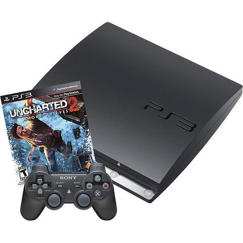 Console Sony Playstation 3 Slim 250 GB + Uncharted 2 - Nero